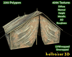 Military Tent - Textured 3D model