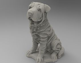 sitting dog 3D print model