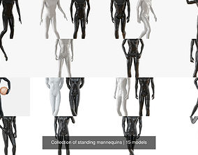 Collection of standing mannequins 3D model