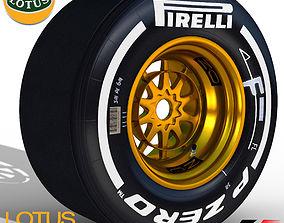 3D asset E23 Medium front tyre