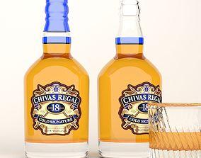 Chivas Regal whiskey bottle 3D