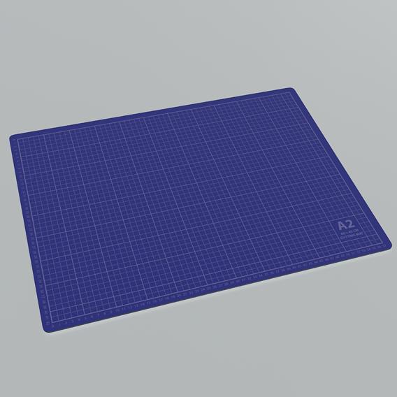 Cutting Mat A2 Blue 3D model