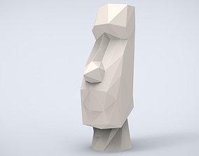 Printable Moai Head Lowpoly Style
