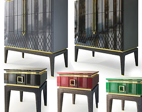 Dresser and bedside table by Ambicioni Bairo 3D model