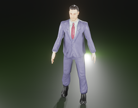 3D model animated Gentleman