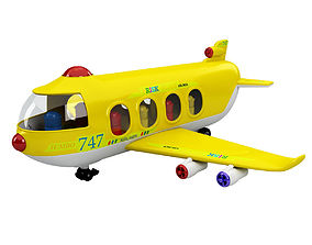 Toy Shiping Plane 3D model cargo