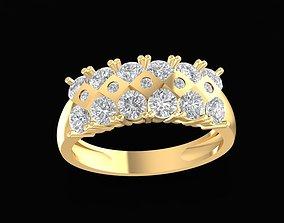 1681 Diamond ring 3D print model