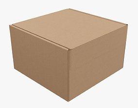 Corrugated cardboard paper box packaging 04 3D
