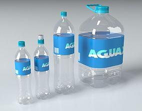 Plastic PET bottle colection 3D model