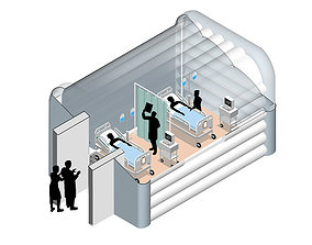 3D Temporary intensive care units for COVID19 patients by