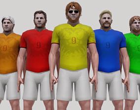 3D asset Customizable Soccer Player Rigged