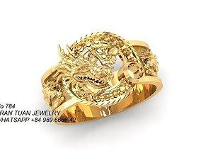 784 Dragon Ring 3D print model chinese