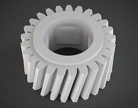 Helical Gear mechanical-parts 3D printable model