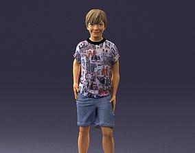 3D model Boy in pose 0243
