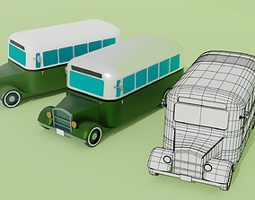 3D model Low poly oldtimer classic bus