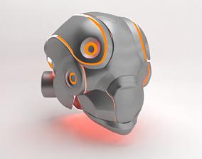 3D model Space Sci-fi helmet armour