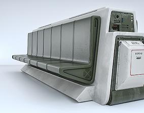 Sci-Fi Seat 3D model