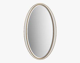 John Richard - White oval frames mirror 3D