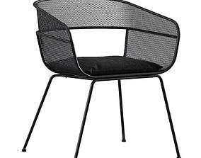 3D model garden Scoop Outdoor Side Chair