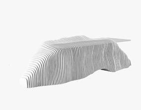 3D model Sculptural Reception Desk