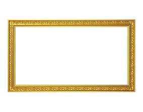 carved frame 3D model painting