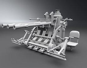 Type 96 Anti Air Artillery Scale Model