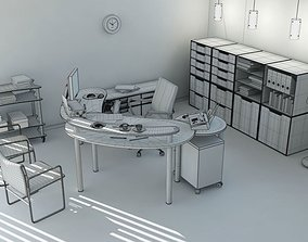 Office Workplace Interior 3D