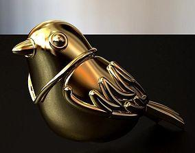 Bird Hollow Earring 3D print model