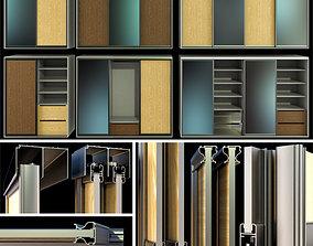 Cupboard Wardrobe folding doors 3D