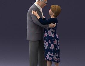 Elderly couple 0709 3D model