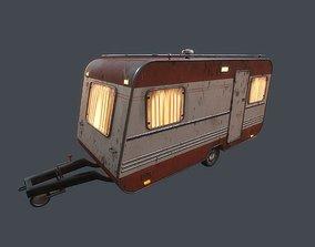 Old Caravan Trailer 3D asset