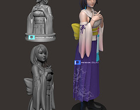 3D print model Yuna from Final Fantasy X
