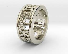 3D print model 45size Constellation symbol ring