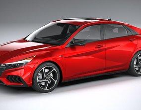 3D model Hyundai Elantra N Line 2021