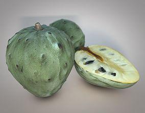 3D model Cherimoya Fruit