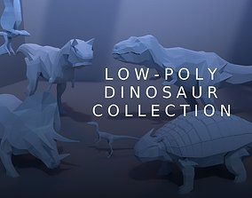 Low-Poly Dinosaur Collection 3D