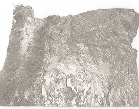 Oregon Relief Map 3D print model