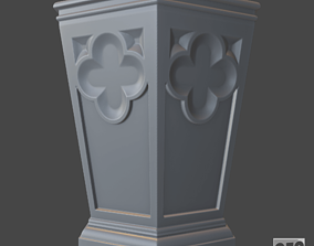 Decorative vase - 3d model for CNC - DecorativeVase006