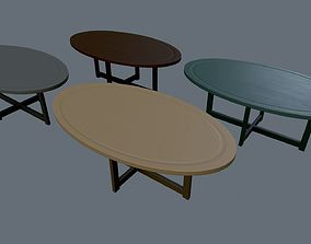 3D model game-ready Seating tables