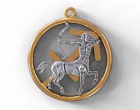 Sagittarius symbol 3D print model