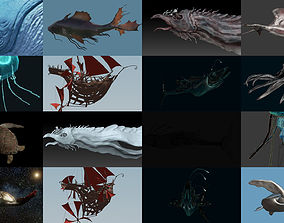 Fantastical Aquatic Collection 3D model sea