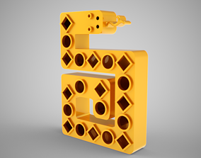 3D printable model Abstract Snake Trinket