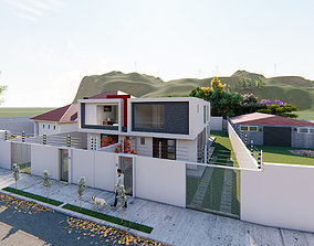 Two beautiful minimalist homes 3D