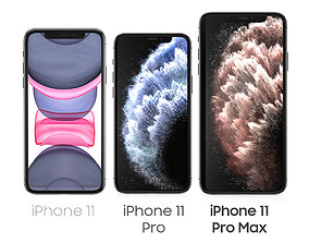 iPhone 11 iPhone 11 Pro iPhone 11 Pro Max Set 3D