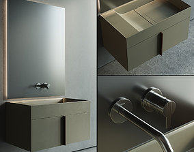 3D asset Inbani Paral Vanity Unit Set 1