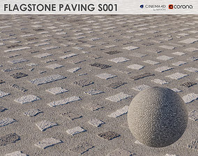 3D Flagstone Pavement - S001 - 8k Seamless Texture