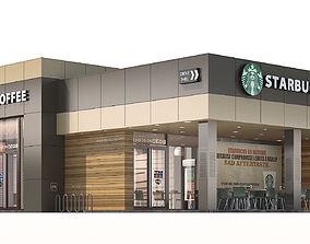 Starbucks coffee shop 2 3D model