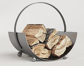 3D model Burnished Steel Log Holder
