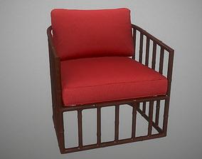 3D Robert Plum Bella Arm chair Devon Rosewood Fabric