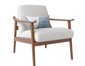 3D model Mid-Century Show Wood Chair